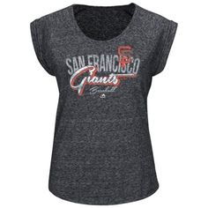 San Francisco Giants Majestic Women's Rockin The Crowd T-Shirt – Charcoal