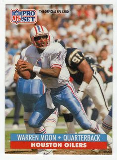 Warren Moon   167 - 1991 Pro Set Football Football Memes 19c7d88d4