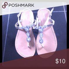 Selling this Rhinestone thong sandals on Poshmark! My username is: dsacco2. #shopmycloset #poshmark #fashion #shopping #style #forsale #Shoes
