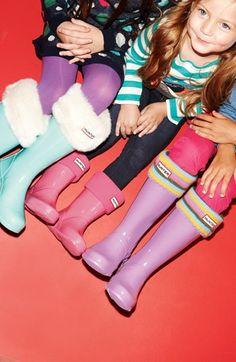 Hunter Fleece Welly Socks (Baby Girls, Toddler Girls, Little Girls & Big Girls)   Nordstrom