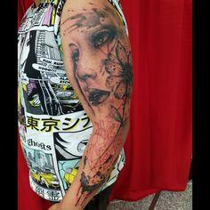 Tattoo shop Arm Sleeve Tattoos, Tattoo Shop, Portrait, Men Portrait, Paintings, Portraits, Head Shots