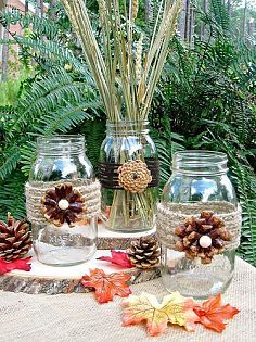 Creating Pine Cone Flowers for Fall Decorating
