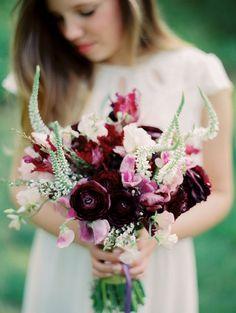 Ranunculus & Sweet Peas Bouquet by Janie Medley; Photo by Marta Locklear Parrot Tulip Wedding Bouquet, Flower Boquet, Ranunculus Bouquet, Cascading Wedding Bouquets, White Wedding Flowers, Floral Bouquets, Floral Wedding, Anemones, Cake Bouquet