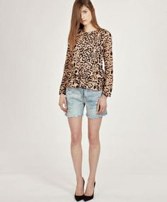 Wren Leopard Double Peplum Top on Bona Drag