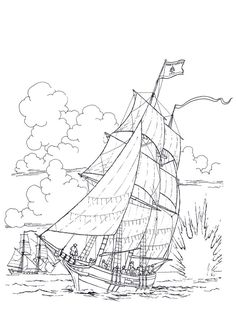 ships_1 Adult coloring pages