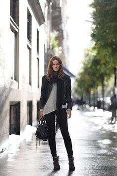 Caroline perfect in black