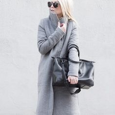 Another shot of @figtny wearing our Coat 4048 // (on sale now for $160.80) #oakandfort