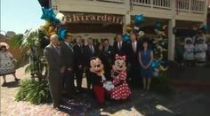 There was a sweet celebration on June 7 when Ghirardelli's Ice Cream Fountain and Chocolate Shop opened in Downtown Disney in Disneyland.  Mickey Mouse and Minnie Mouse were on hand for the fun, along with several Disney friends.