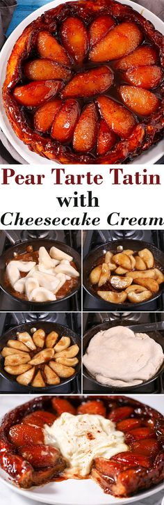 Flaky pastry topped with sweet caramelized pears and vanilla cheesecake cream......