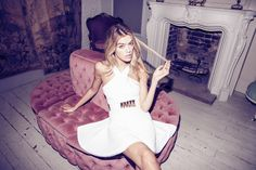 AW14: NEW CAN PLAY THAT GAME #model #60s #jaquard #white #boudoir #fashion #joannahalpin #graphic #mansion #skaterdress #hairenvy