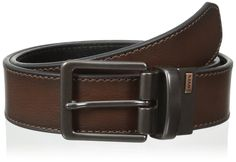 Levi's Men's Reversible Bridle Belt with Antique Finish Buckle, Brown/Black, 32 at Amazon Men's Clothing store: