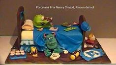 Mike y sully Tortas Monster High, Monster University, Sully, 3rd Birthday, Bowser, Cake, Desserts, Character, Cold