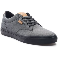 Vans Winston DX Men's Textile Skate Shoes ($60) ❤ liked on Polyvore featuring men's fashion, men's shoes, men's sneakers, black, mens black skate shoes, mens black sneakers, men's low top sneakers, mens low tops and mens black shoes
