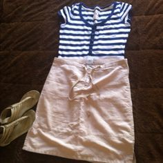 Linen Calvin Klein skirt In excellent condition. Very cute Linen Calvin Klein skirt Calvin Klein Skirts