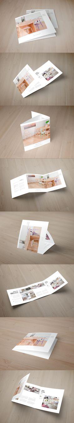 Square Minimal Interior Design Trifold. Download here: http://graphicriver.net/item/square-minimal-interior-design-trifold/8998194?ref=abradesign #trifold #brochure #design