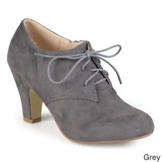 Chunky Heel Shoes, Lace Up Booties, Suede Booties, Ankle Booties, Grey Booties, Lace Oxfords, Bootie Heels, Bootie Boots, Shoe Boots
