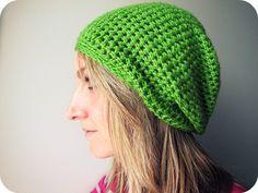 Green slouch beanie #beanie #crochet #green #leaf #slouch