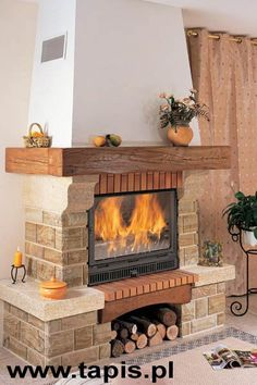 Pergola Above Garage Door Refferal: 3507370093 Rustic Fireplaces, Home Fireplace, Fireplace Remodel, Fireplace Design, Home Room Design, Small House Design, Interior Design Living Room, Rustic Staircase, Barbecue Design