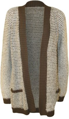 Women's Plus Size Striped Pocket Knitted Cardigan