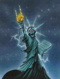 Metal is the real Freedom - Iron Maiden (Eddie) Heavy Metal Music, Heavy Metal Bands, Metal Viking, Iron Maiden Mascot, Eddie The Head, Pictures Of Rocks, Extreme Metal, Horror Show, Metal Artwork