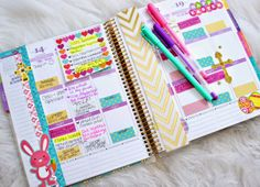 """I love decorating my planner. Let me know if you would like to see updates of how I decorate my planner each week. I do about three at a time in order to save time. Plus, once I take out my supplies, I'm on a roll having fun with my stickers."" -Belinda Selene"