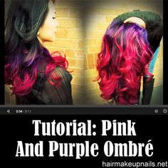 Pink and Purple Ombré
