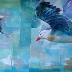 acrylic, $1995 , 610 x 1010 Gulls at low tide Gulls, Fish, Pets, Artist, House, Painting, Animals, Home, Animaux