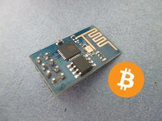 #Bitcoin Price Ticker using #ESP8266 WiFi Module