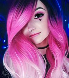 Pink Ombre Hair, Blonde Ombre, Pretty Hairstyles, Girl Hairstyles, Hairstyles 2016, Anime Hairstyles, Hairstyle Men, Pelo Multicolor, Emo Hair