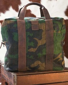 Insubordinate Lads - Green Camo Sargeant Weekender w/Brown Leather
