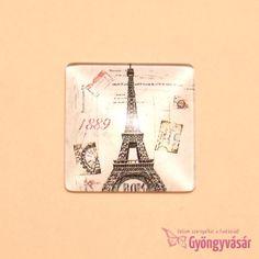 Párizs mintás, négyzet alakú, 25 mm-es üveglencse • Gyöngyvásár.hu Money Clip, Wallet, Handmade Purses, Purses, Diy Wallet, Purse