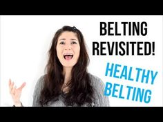Belting with a strong voice can be straining on your vocal cords. Find out in this tutorial how to belt in a healthy way without hurting your voice. Singing Lessons For Beginners, Vocal Lessons, Music Lessons, Singing Classes, Learn Singing, Singing Tips, Singing Exercises, Vocal Exercises, Singing Techniques