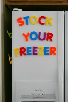Stock your freezer-tips and tricks.  Great approach to having freezer stock, she tends to freeze bits and pieces of meals (pizza dough, buns, cookie balls so you can bake a few at a time, sauces, etc.) as oppose to whole entrees, seems less overwhelming.