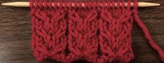 Example of the Downward Slipped Double Cable Stitch