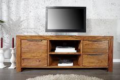 DAKAR - elegant TV-bänk i massivt sheesham-trä Teak Furniture, Vintage Furniture, Vintage Country, Country Decor, Tv Cabinets, Vintage Home Decor, Decoration, Timeless Design, Sideboard