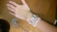 bracelet - lace & glass beads