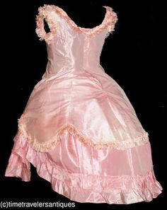 Cutest Early Pink Bustle Gown for a Little Girl