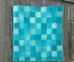 Ombre Baby Quilt Modern Baby Quilt Patchwork Quilt by TheUpsyDaisy, $125.00