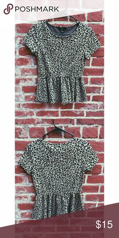 Leopard print shirt Adorable leopard print shirt, in good condition. Forever 21 Tops