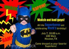 Super Hero Party invitation