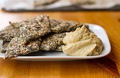 Receta de crackers de semillas de chia con Hummus
