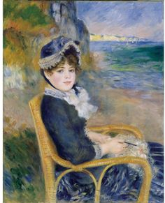 Pierre-Auguste Renoir (French, 1841-1919). By the Seashore, 1883. Oil on canvas