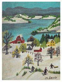 Wonderful folk art painting by renowned Nova Scotia artist Maud Lewis.