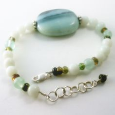 Celebrate Life and Growth Tourmaline Amazonite and Fluorite Bracelet $39- Healing Crystal Jewelry http://www.healingcrystaljewelry.ca/collections/gemstone-bracelets/products/celebrate-life-and-growth-tourmaline-amazonite-and-fluorite-bracelet