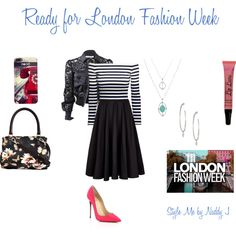 It's London Fashion Week by stylemebynaddyj on Polyvore featuring H&M, Givenchy, Ted Baker and Christian Louboutin
