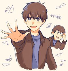 Osomatsu-san - Karamatsu, the feel cool kid with a pure heart.Lol