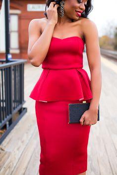 red peplum dress for christmas, www.jadore-fashion.com