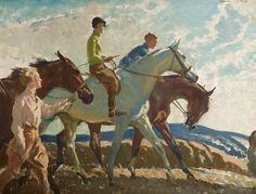 χρηστομαθεια — Frederic Whiting The morning ride. Horse Posters, Horse Portrait, Horse Drawings, Art Uk, Equine Art, Pretty Horses, Sports Art, Horse Art, Vintage Art
