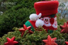 Stocking Photographed by Akaash Ram - India - Red - Green - Christmas Tree - Holiday - FairMail - Fair Trade Photos - IAKR-0265