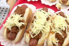 Chili Cheese Dogs Recipe : Tyler Florence : Food Network - FoodNetwork.com